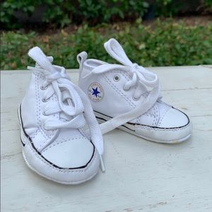 Baby Converse Size 2 white